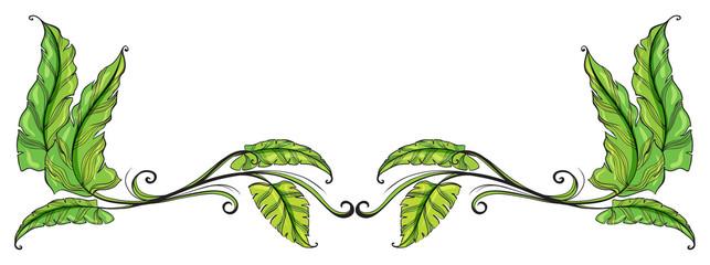 A leafy border