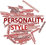 Word cloud for Personality style
