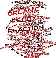 Word cloud for Organic redox reaction
