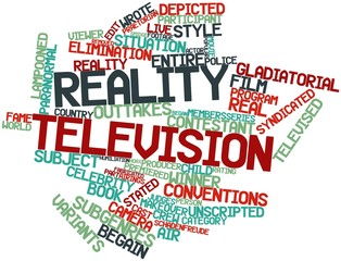 Word cloud for Reality television