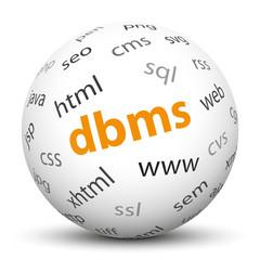 Kugel, DBMS, Database Management System, Datenbank, Speicher, 3D