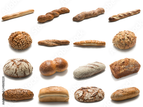 Brot Freigestellt mit Pfaden.