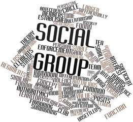 Word cloud for Social group