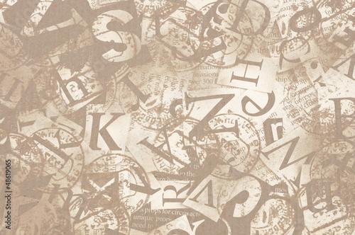 Foto op Plexiglas Kranten letters
