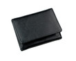 Black leather wallet for men.