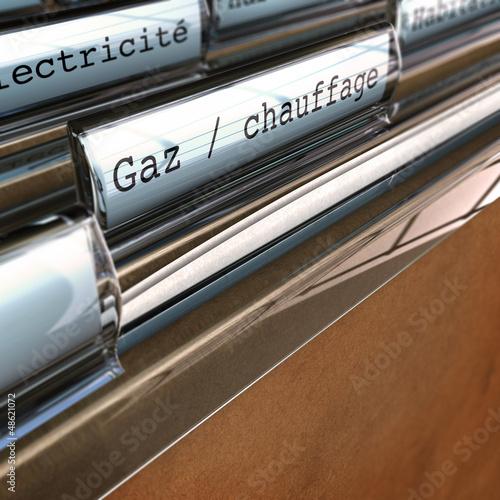 factures de gaz, dépenses d'énergie