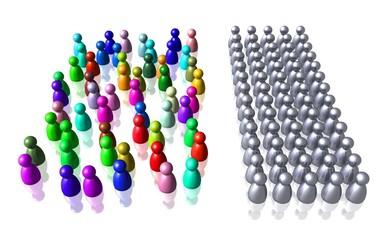 Vielfalt gegen Gleichförmigkeit