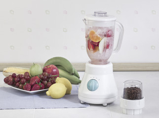 The electric blender for make fruit juice or smoothie