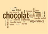WEB ART DESIGN TAG CLOUD BARRRE CHOCOLAT CARRE 300
