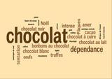WEB ART DESIGN TAG CLOUD BARRRE CHOCOLAT CARRE 300