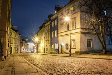 Old Town at night.