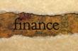 Finance torn paper