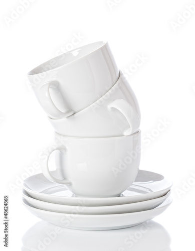 Stack Of Cups & Saucers