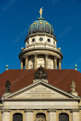 French Cathedral on Gendarmenmarkt. Berlin. Germany
