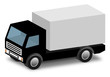 Vector delivery, cargo truck with space for text