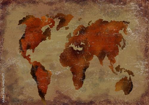 Ancient worls map