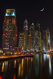 Nightlife in Dubai Marina. UAE. November 14, 2012 poster