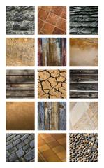 Texture, fond, matériau, bois, pierre, terre, vignette, fond