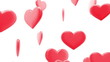Beautiful glossy Hearts in looped animation. HD 1080.