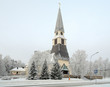 Rovaniemi Church in winter, Finland
