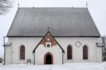 Porvoo Cathedral in winter, Finland