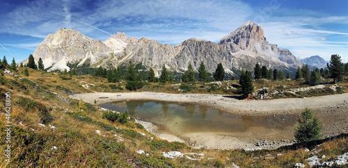 Passo Falzarego in Italy dolomites mountain