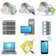 Vector computing and server icons