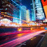 Fototapety night scene of modern city
