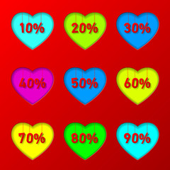 percentage in hearts