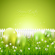 Modern green Easter background