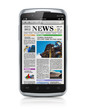 Smartphone with business news