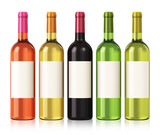 Fototapety Wine bottles