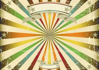Screen multicolor vintage