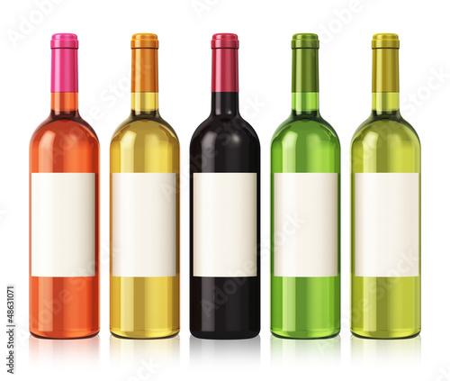 Deurstickers Alcohol Wine bottles