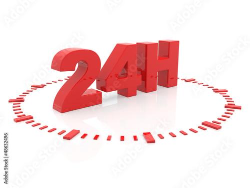 horaires d'ouverture - service 24 h