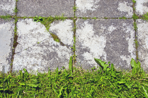 old concrete pavement brick background