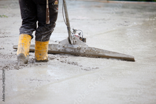 building site trowel concrete