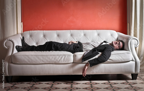 businessman on sofa