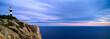 Westküste von Mallorca mit Leuchtturm bei Sonnenuntergang