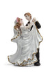 Bride and groom dancing cake topper