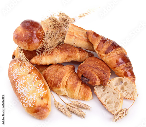 assortment of bread and pastries