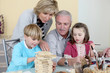 Grandparents spending time with their grandchildren