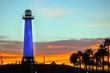 Leuchtturm in der Marina von Los Angeles