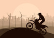 Wind electricity generators, windmills and all terrain motorcycl