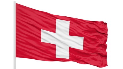 Looping of the Switzerland flag