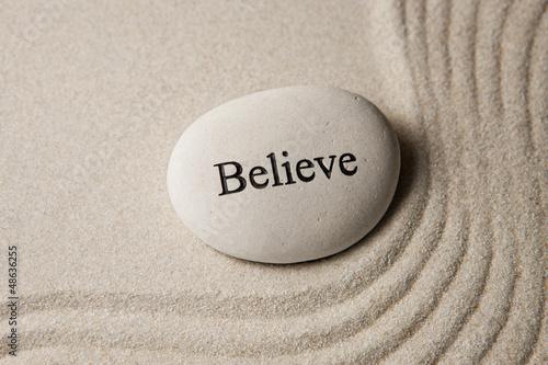 Poster Believe stone