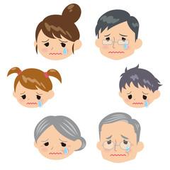 家族表情悲しい