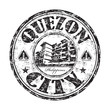 Quezon City grunge rubber stamp