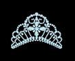 feminine wedding diadem crown on black