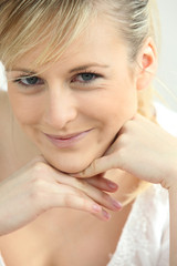 blonde woman portrait